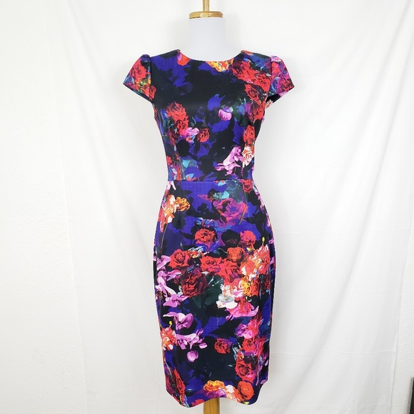 0702e710 Betsey Johnson Dresses & Skirts - Betsey Johnson Floral Print Midi Sheath  Dress ...